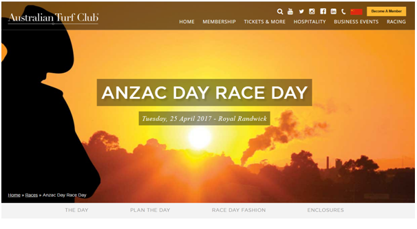 Anzac day races- Sydney