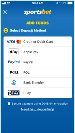 Apple Pay at Sportsbet