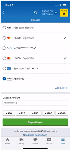 Apple Pay at online bookies