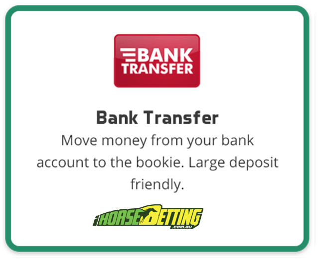 Bank Transfer payment method at online bookies
