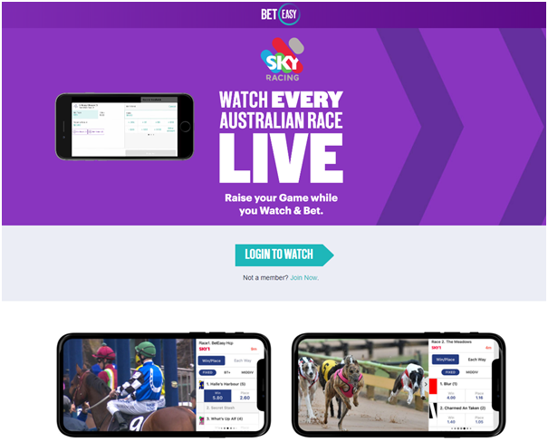 Beteasy : How to watch live races from Australia?