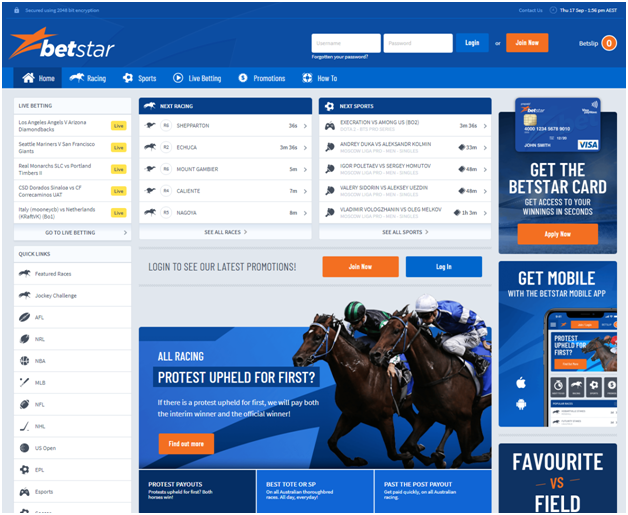 Betstar AU bookie