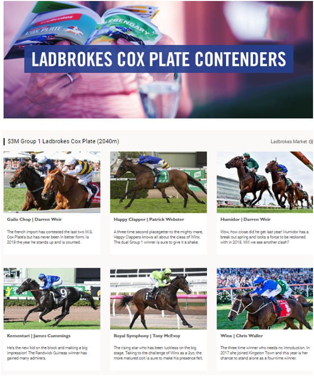Cox Plate who are the contenders in 2018
