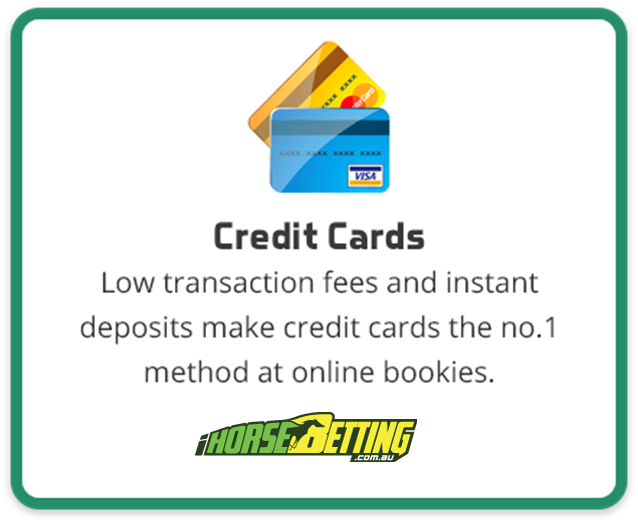 Credit cards deposits at online bookies AU