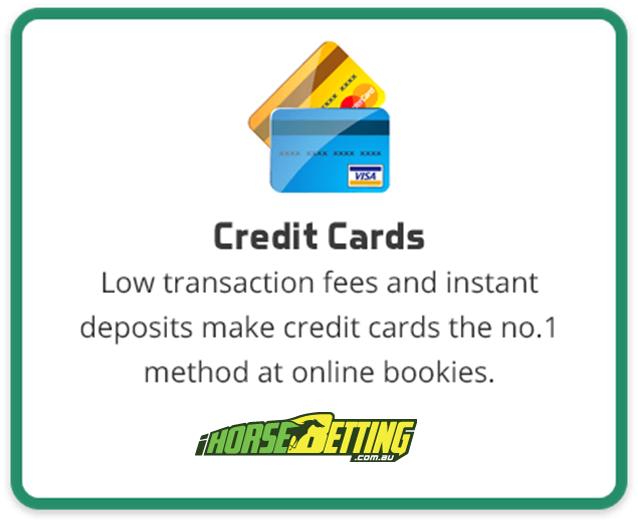 Credit cards deposits at online bookies AU