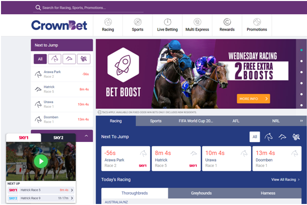 Crownbet live streaming races