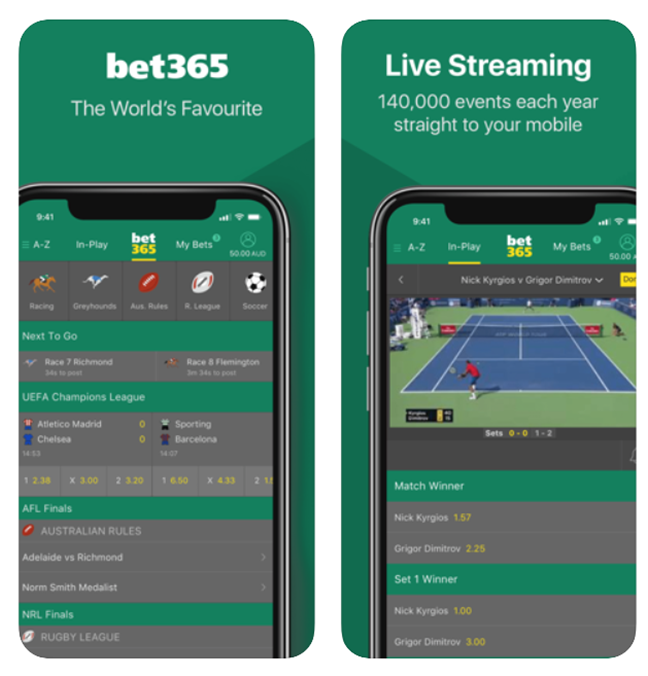 Bet365 app for Horse racing