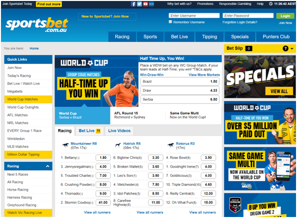 How to watch live streaming at SportsBet Australia