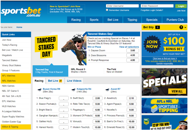 Bonus Bet at Sportsbet AU